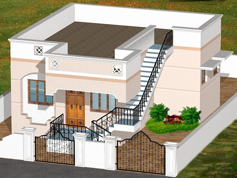 Indian homes house plans house designs 775 sq ft for 3d view of house interior design