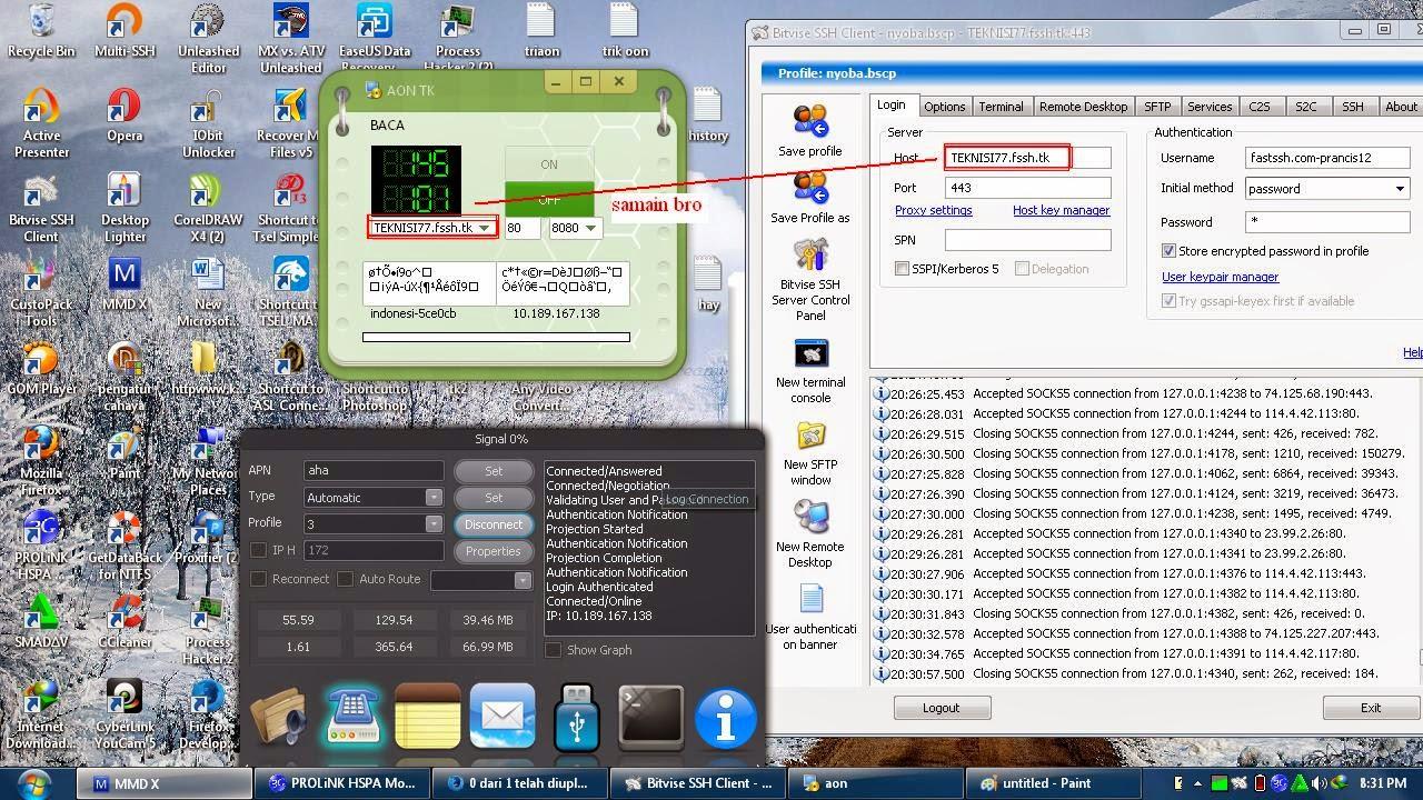 Contoh Gambar SSH Tri AON