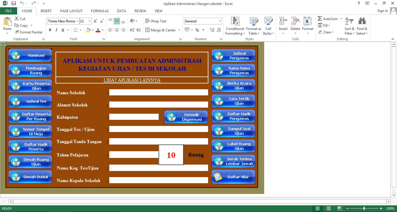 Download Aplikasi Administrasi Ujian Sekolah Sd Smp Sma Dan Sederajat Bahasan Ilmu Pendidikan