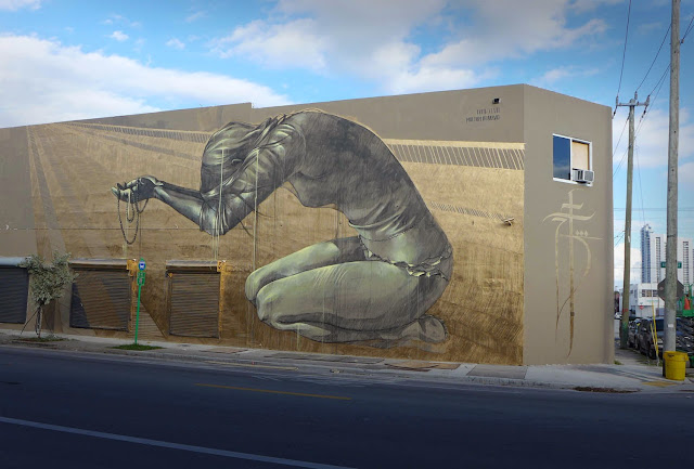 """Multum In Parvo"" New Street Art Piece by Faith47 For Women On The Walls in Wynwood, Miami. 2"