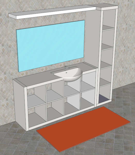 Ikea bagno mobili lavabo lavabo bagno ikea hemnes for Sketchup bathroom sink