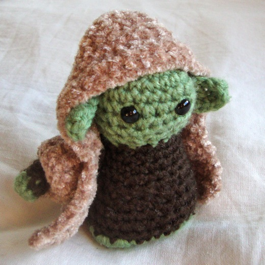 Crochet Yoda Pattern : on top of a lily pad: Crochet me she did, cute I am