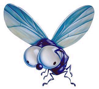 La pobre mosca , es va quedar a les fosques