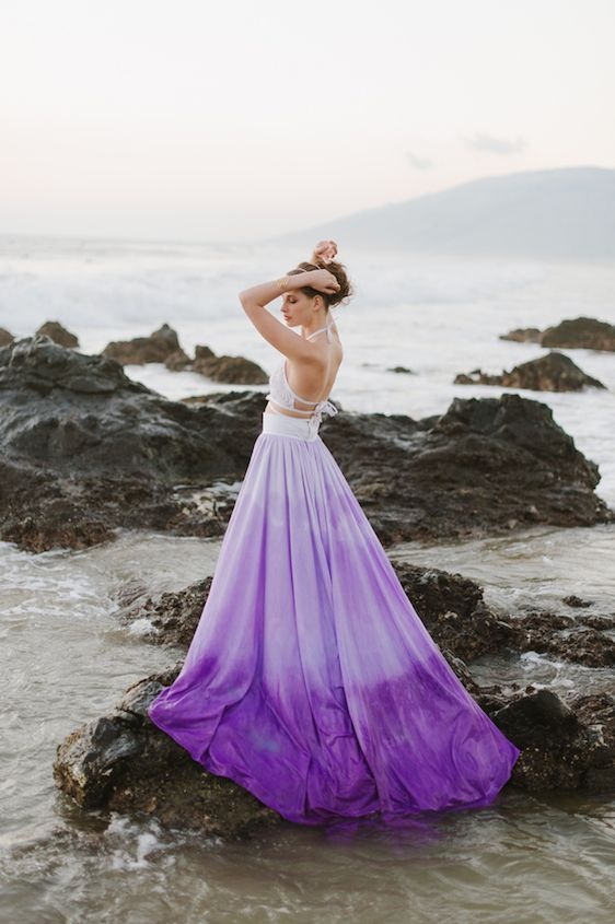 Awesome purple wedding dresses for Purple ombre wedding dress