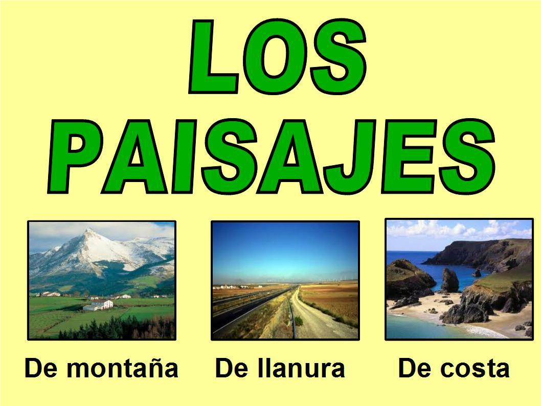 Conocimiento del medio primero claret fichas de repaso tipos de paisajes - Tipos de paisajes ...