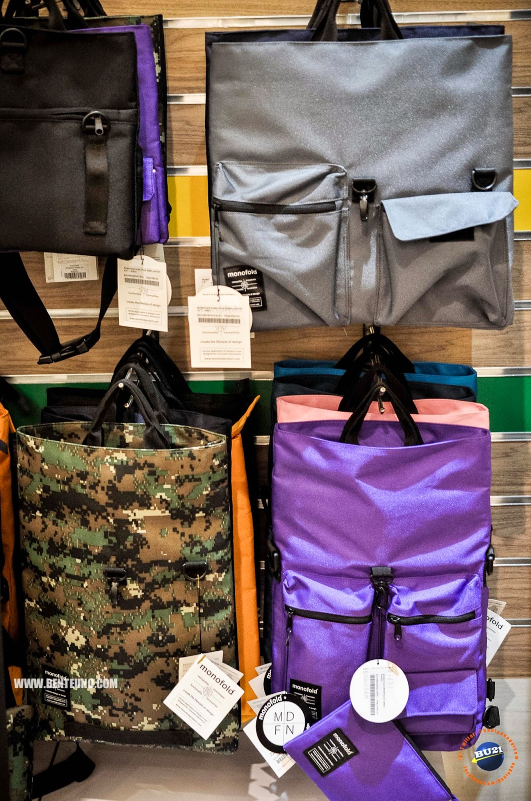 MONOFOLD bags for your gadgets and laptop