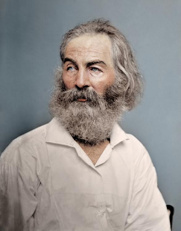 American Poet Walt Whitman, 1868.