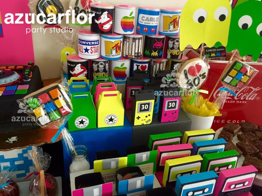 Azucar flor party studio for Decoracion 70 80