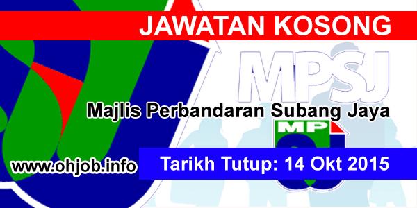 Jawatan Kerja Kosong Majlis Perbandaran Subang Jaya (MPSJ) logo www.ohjob.info oktober 2015