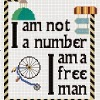 the prisoner quote portmeirion cross stitch chart