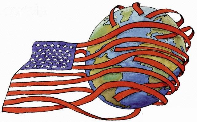 Cờ Mỹ bóp nghẹt thế giới