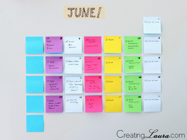 Creating Laura Diy Sticky Note Calendar