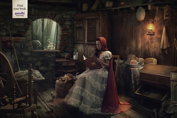 Creative print ads inspired by fairy tales