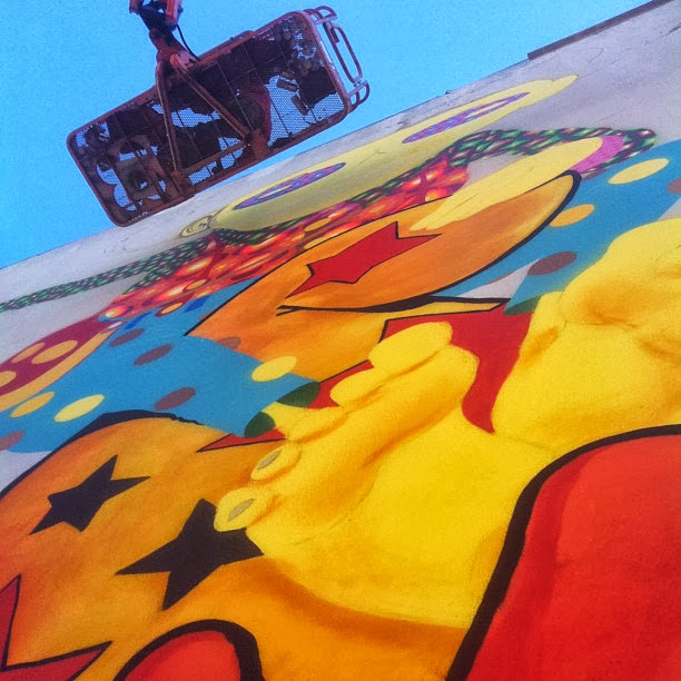 Work In Progress By Brazilian Street Artists Os Gemeos At Warfield Theatre In San Francisco. 4