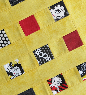 Betty Boop fabrics collection - Camelot - Cushion in progress