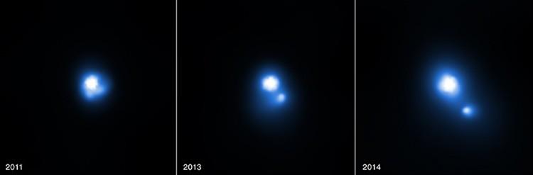 Estrella de neutrones lanza un disco estelar