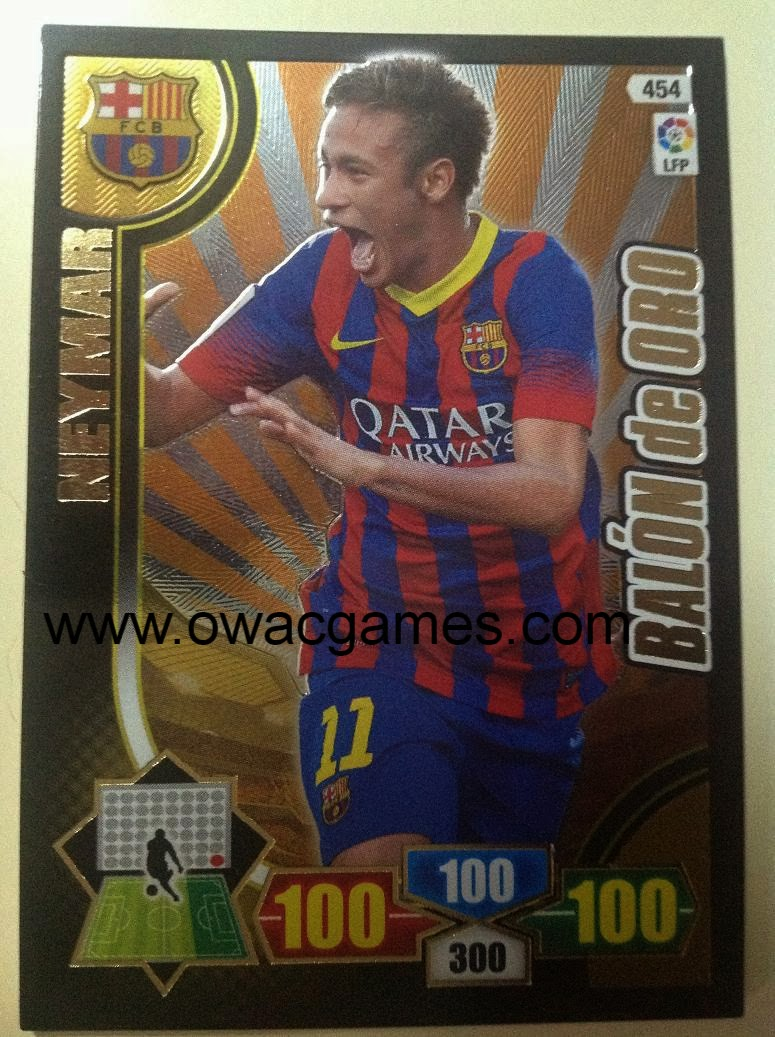 Adrenalyn 2013-14 Neymar Balón de Oro