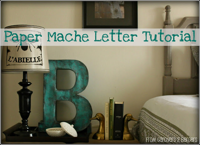 diy cardboard letters paper mache tutorial