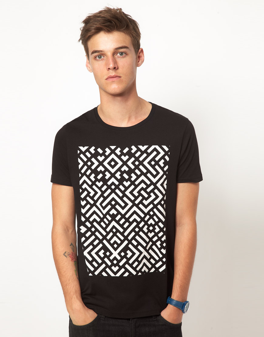 Asos T Shirt With Abstract Print Urban Hunt