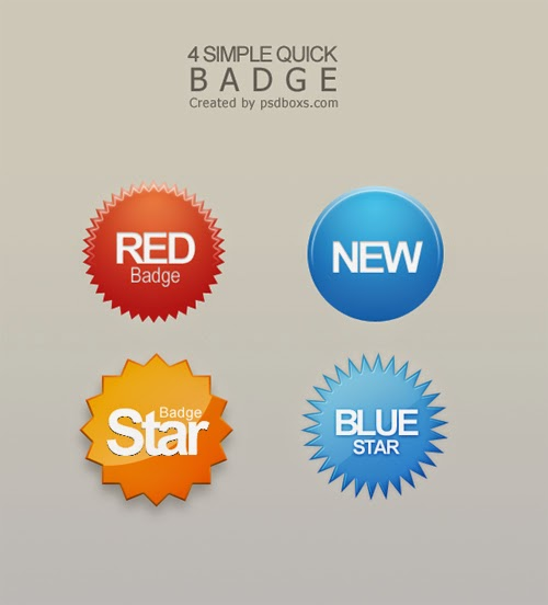 4 Best Simple Quick Badge Template - Free PSD