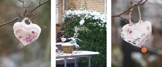 DIY hjerteformede fuglekugler