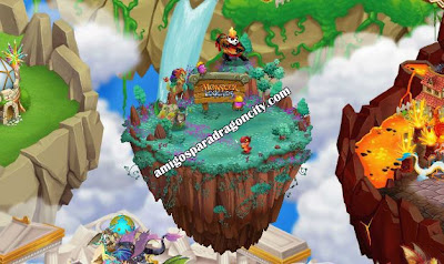 imagen de la isla de monster legends en dragon city