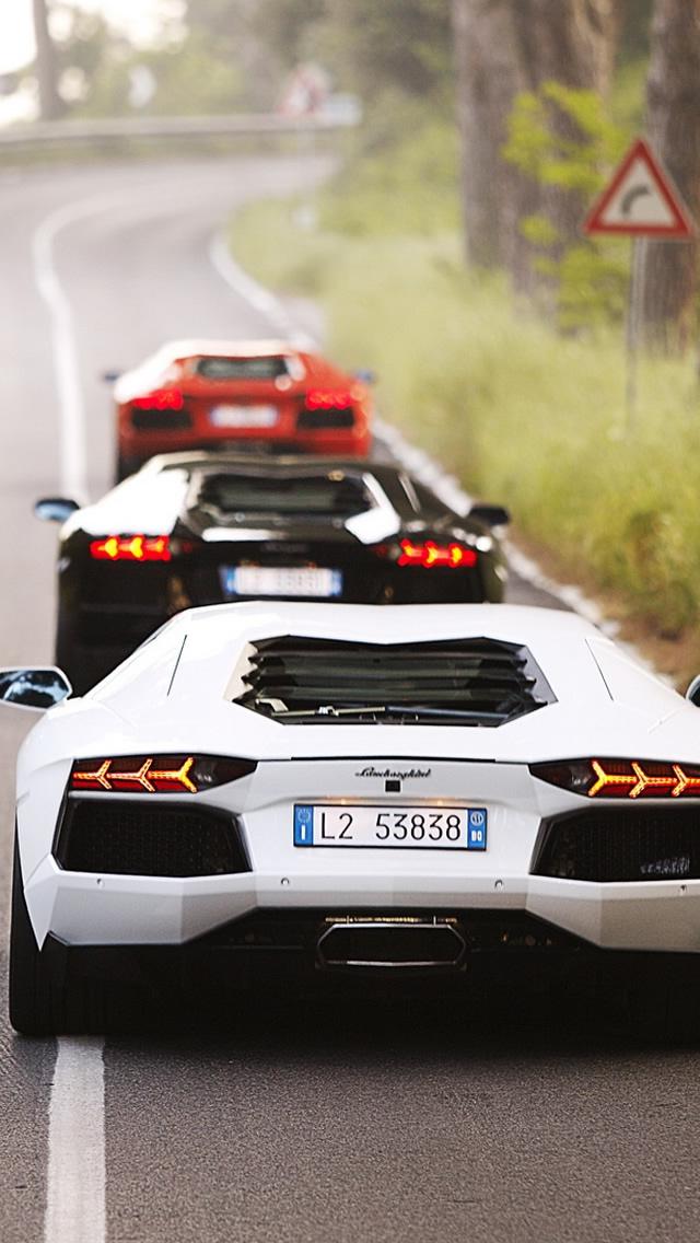 Lamborghini Cars IPhone 5 Wallpaper