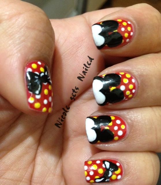 Mickey nails! | Nail Art | Pinterest