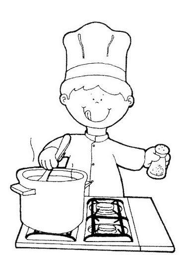 Sgblogosfera mar a jos arg eso profesiones para colorear for Como dibujar una cocina