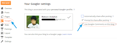 Cara pasang komentar Google+ di Blogger | Tutorial Lengkap