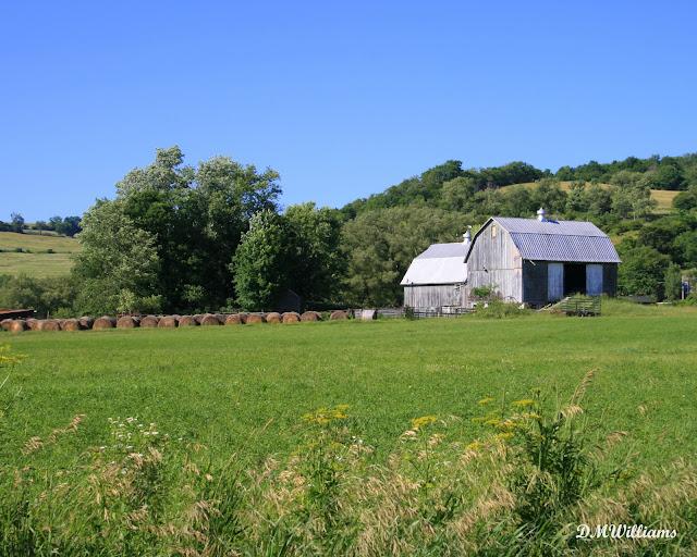 Bradford County Barn with haybales