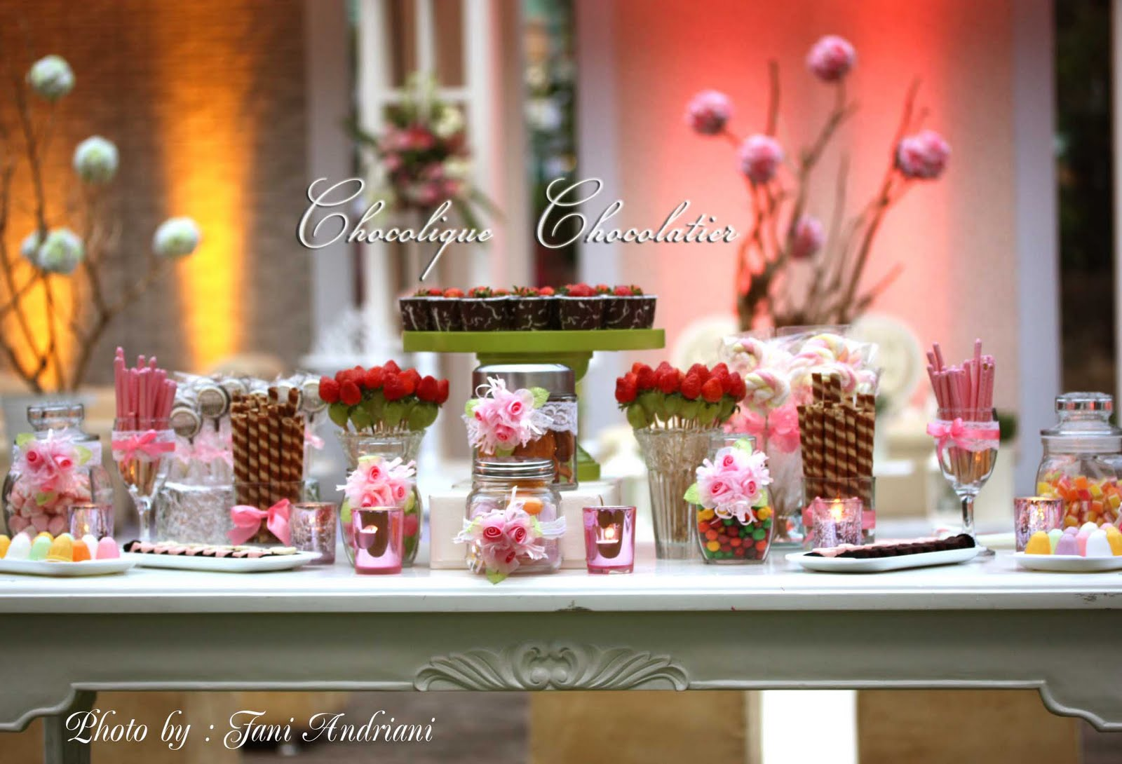 Chocolique chocolatier candy bar for hans uvick 39 s for Candy bar for weddings receptions