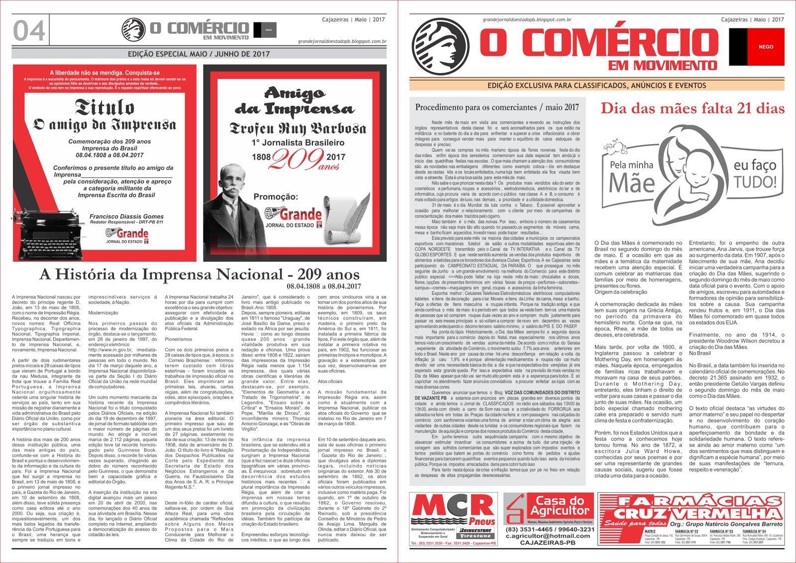 ESPECIAL  DOS 209 DA IMPRENSA  DO BRASIL