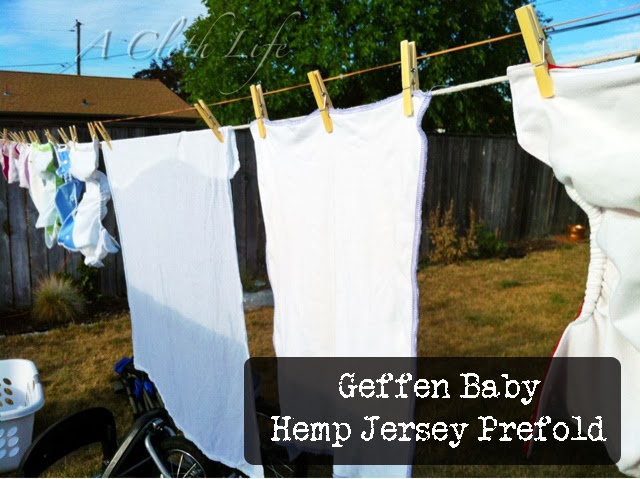 Geffen Baby hemp jersey prefold review