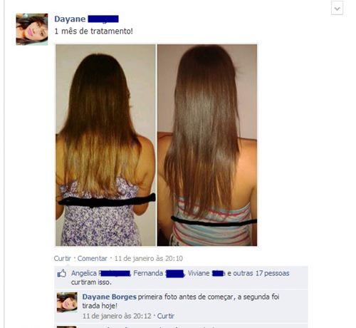 Fotos do cabelo da Dayane
