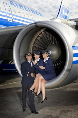 Stewardesses with lots of legs