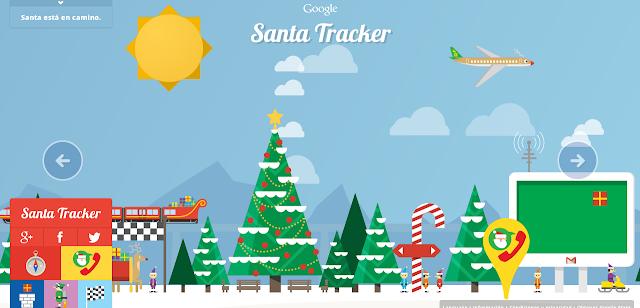 Sigue desde Google el recorrido de Santa por el Mundo