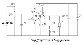 AUDIO AMPLIFIER CIRCUIT USING LM386 My Circuits 9