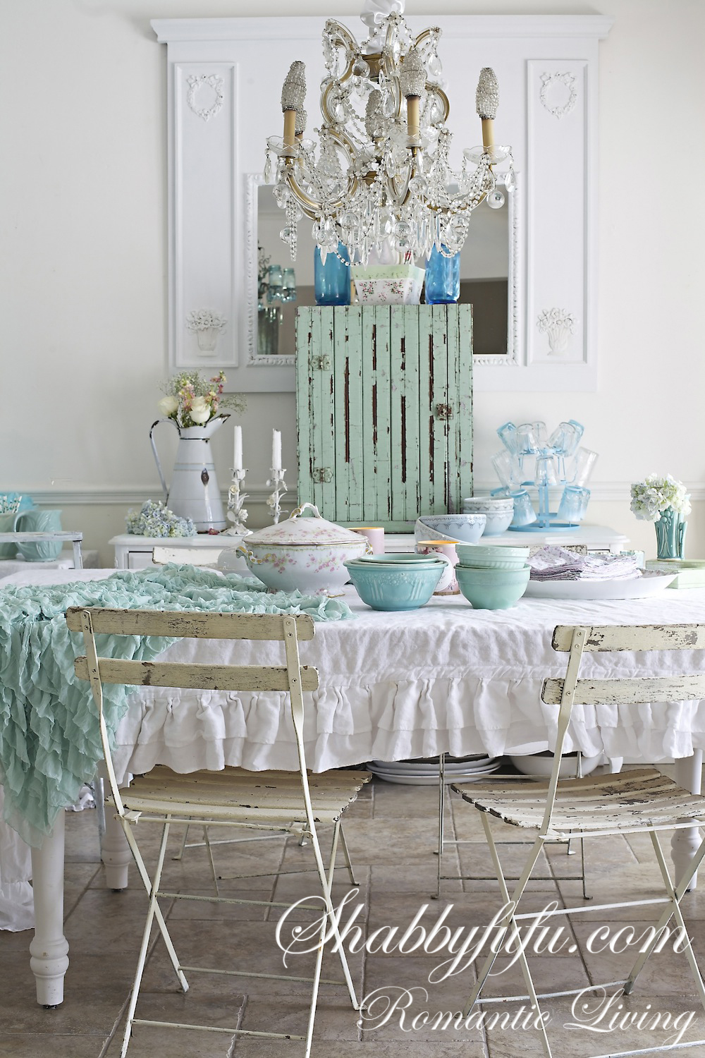 Shabby fluff fru fru and lace on pinterest shabby chic shabby and ana rosa - Shabby chic dining rooms ...