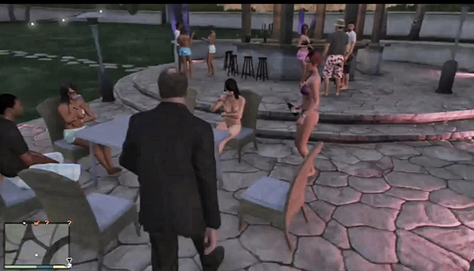 Playboy mansion gta topless exposed photos