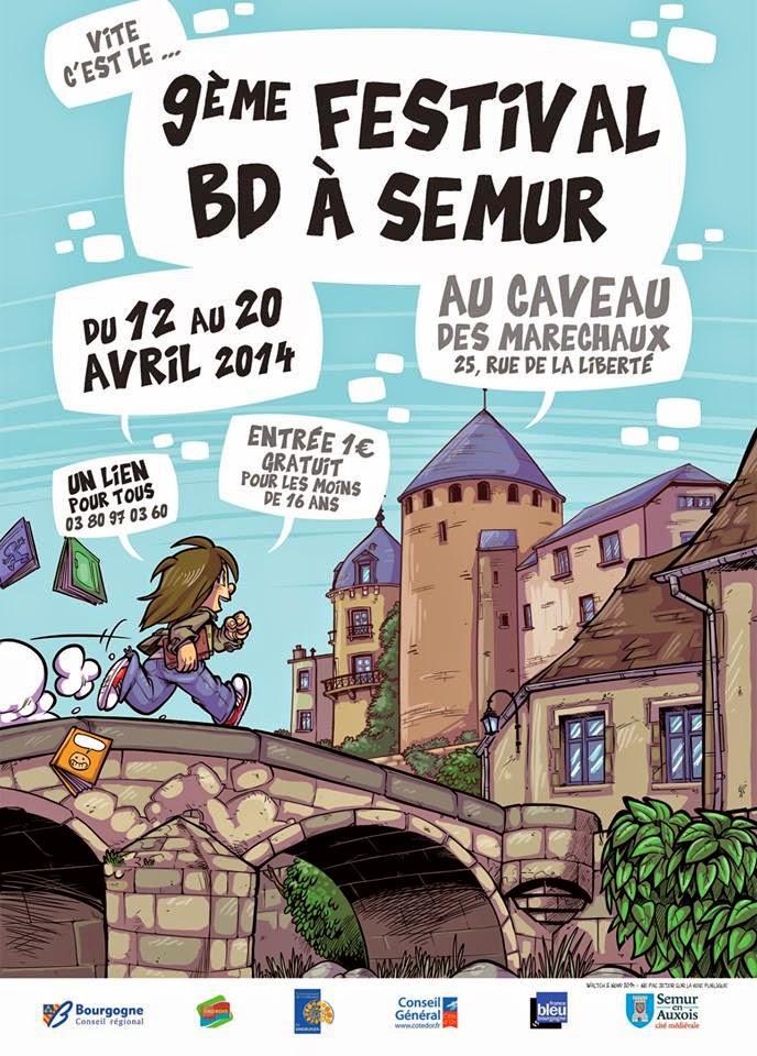 Festival BD de Semur en Auxois - 12 au 20 avril 2014 (affiche)