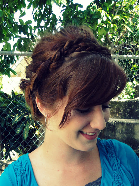 hair style for women: braided updo