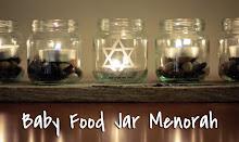Baby Food Jar Menorah