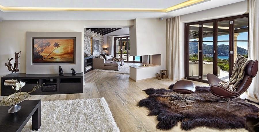 salon, styl nowoczesny, luksusowy salon, willa