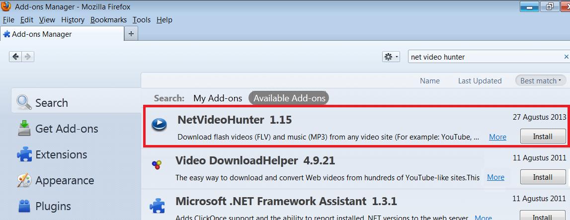 hanya net video hunter idm internet download manager juga recommended