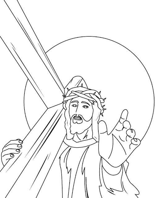 Desenhos Jesus Para Colorir