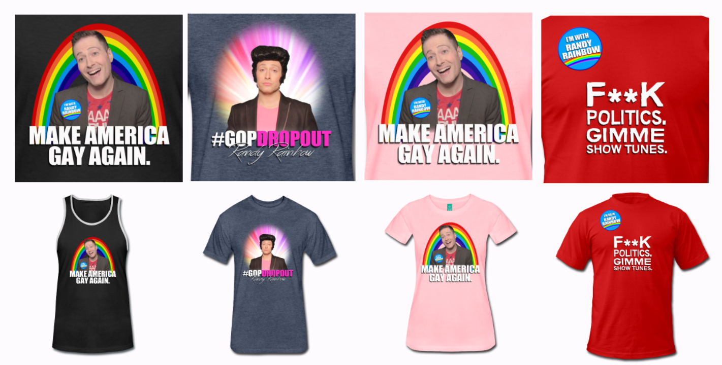 RANDY RAINBOW T-SHIRTS & MERCH