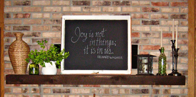 mantel decor pottery barn style cute chalk board picture