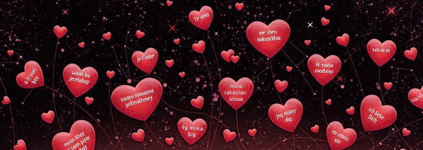 nice love facebook cover red color