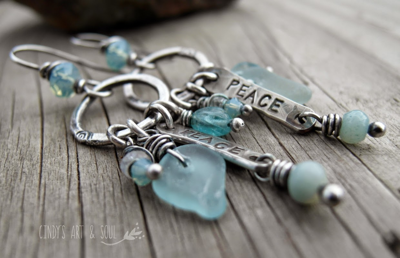 http://www.artandsouljewelry.com/collections/earrings/products/peace-earrings-sea-glass-blue-gemstone-hoops